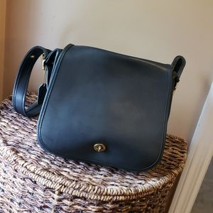 Vintage Coach Stewardess Black shoulder bag